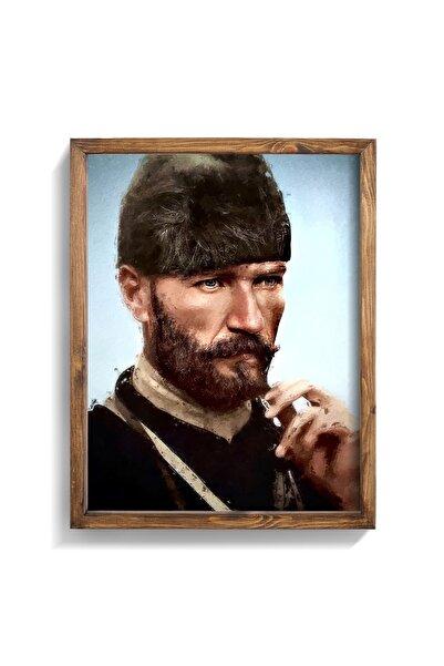 epiqart Atatürk Portresi Yağlıboya Efektli Ahşap Çerçeve