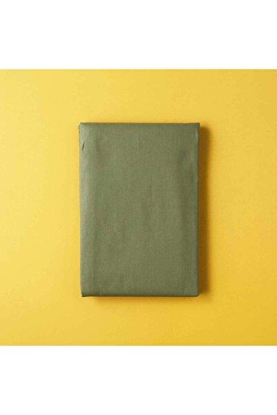 Bella Maison Pamuk Ranforce Açık Haki Çift Kişilik Düz Çarşaf 240x260 cm