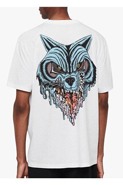 AllSaints Erkek Beyaz All Saints Baskılı T-shirt U004138