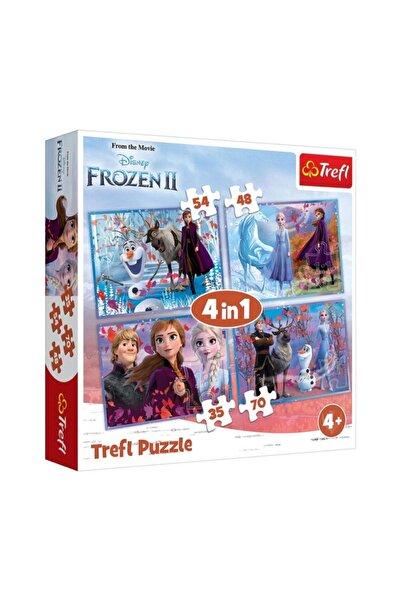 Trefl Elsa Frozen Iı Bilinmeyene Yolculuk Puzzle/yapboz (35+48+54+70 Parça)  4'lü