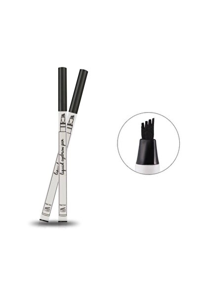 AİLY COSMETİCS Microblading Etkili Kalıcı Kaş Kalemi Ucu Tırtıklı Siyah