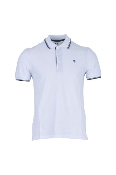 Five Pocket Erkek Beyaz Polo Tişört 8113-fy16