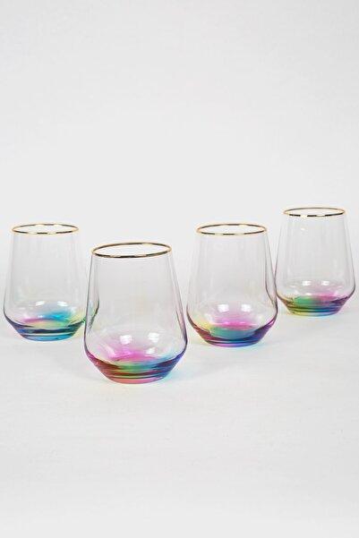 Rakle Rainbow 4'lü Su Bardağı Seti 425 Cc
