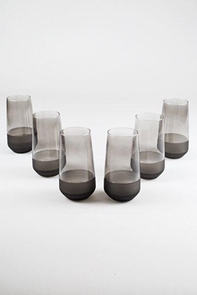 Rakle Matte 6'lı Meşrubat Bardağı Seti Füme 470 Cc