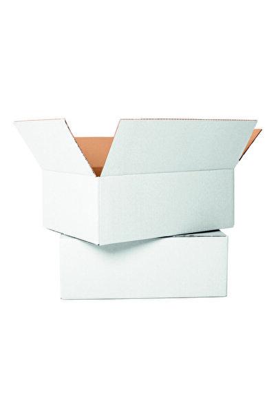 Unipak Tek Oluklu A-box Koli 50x30x30 Cm - Beyaz Renk 10 Adet