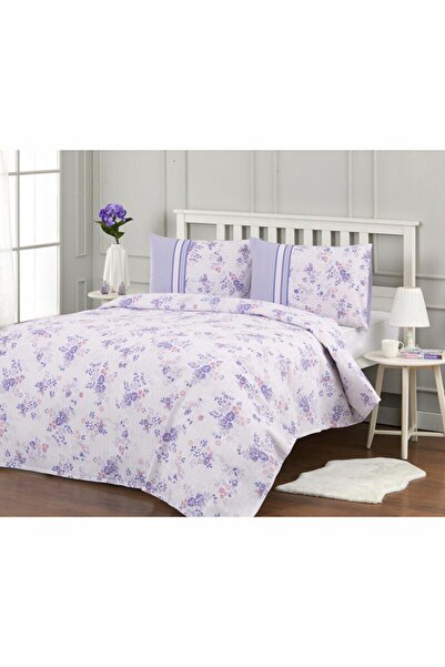 Özdilek Floretta Purple Daisy Çift Kişilik Pike Takımı