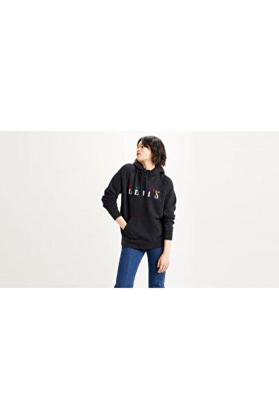 Levi's Kadın Siyah Baskılı Sweatshirt 35946-0247