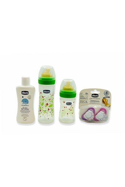 Chicco 4'lü Fırsat Paket Şampuan Biberonx2 Emzik Kız