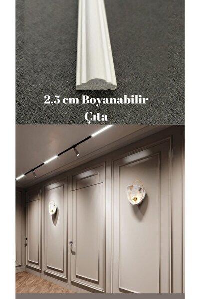 SepetteBiz Duvar Çıtası 2.5 Cm Boyanabilir 1 Boy 240 Cm (SB-2513) Duvar Süsleri