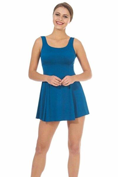 Estiva 1608 Normal Ve Büyük Beden Askılı Etekli Elbise Mayo