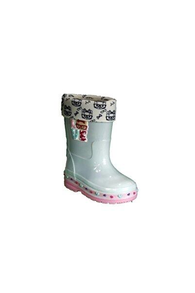 GEZER Kız Çocuk Mint Yeşili Su Geçirmez Yağmur Çizmesi Hello Kitty Baskılı