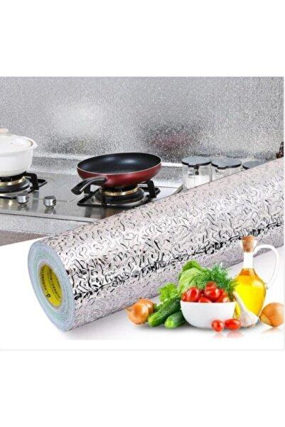Yenimiyeni 5 Metre Yapışkanlı Silinebilir Mutfak Tezgah Üstü Folyo Gümüş