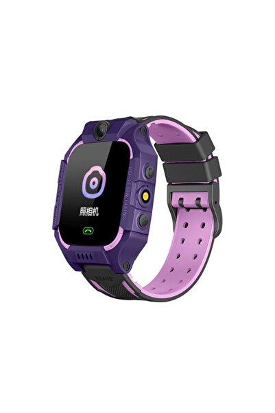 Fitbit Unisex Çocuk Mor pembe Sim Kartlı Türkçe Menü Imei Kayıtlı Smartcell Akıllı Saati