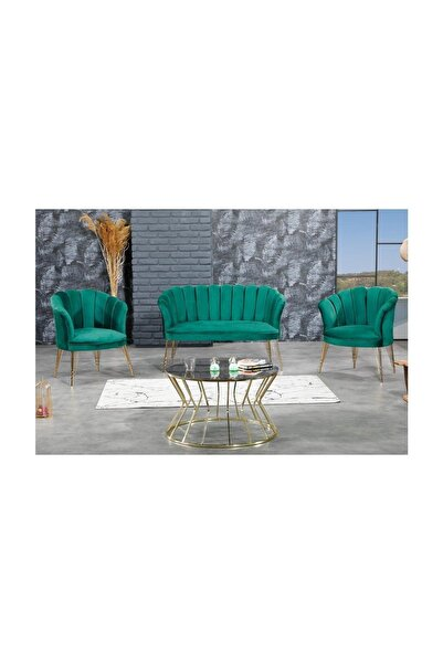 Cassano concept Papatya Çay Seti Koltuk Takımı Bahçe Salon Yeşil Renk