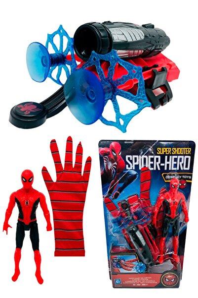 Medska Örümcek Adam Ağ Fırlatan Ok Atan Vantuzlu Eldiven Işıklı Figür