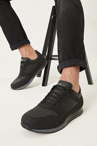 AC&Co / Altınyıldız Classics Erkek Siyah Casual Spor Sneaker Ayakkabı