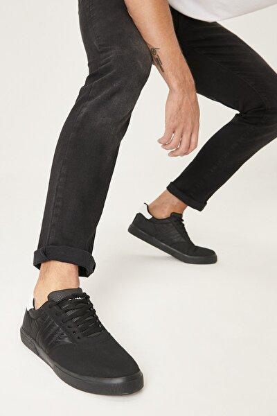 AC&Co / Altınyıldız Classics Erkek Siyah Siyah Spor Sneaker Ayakkabı