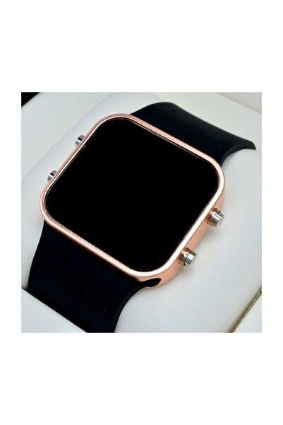 Spectrum Unisex Siyah Silikon Kordonlu Rose Metal Kasa Model Dijital Saat St-303567