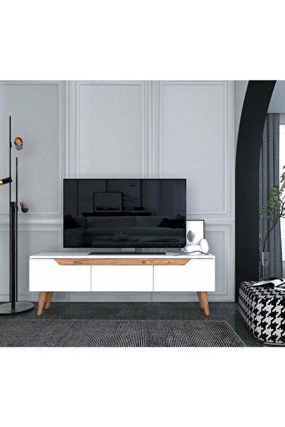Ankara Mobilya Mana 160 Cm Beyaz Tv Ünitesi