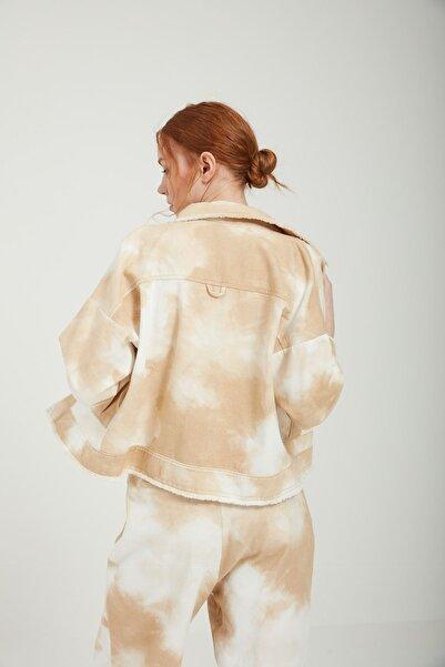 Batik A2367 Dkm Desenlı Casual Ceket Bej