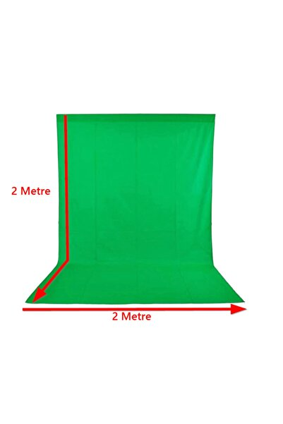Ihvan Group 2x2 M Chromakey Green Screen Greenbox Yeşil Fon Perde Fotoğraf Stüdyosu Youtube Tiktok Için Arkaplan