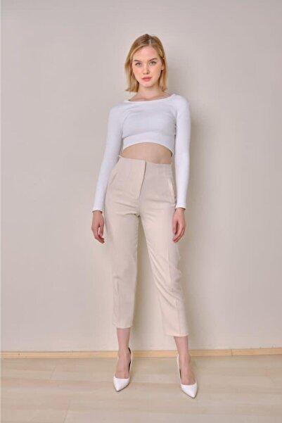 The pantolon Kadın Pensli Taş Havuç Pantolon