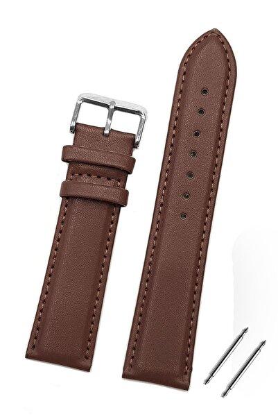 Trendburada Huawei Watch Gt Gt2 Gt2e 46mm Saat Uyumlu 22mm Koyu Kahverengi Renk Klasik Deri Saat Kordonu