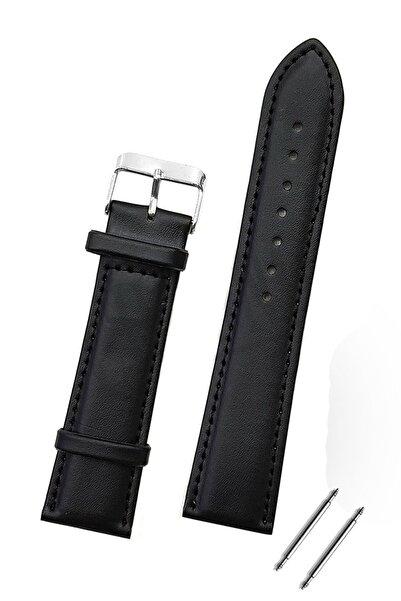 Trendburada Huawei Watch Gt Gt2 Gt2e 46mm Saat Uyumlu 22mm Siyah Renk Klasik Deri Saat Kordonu