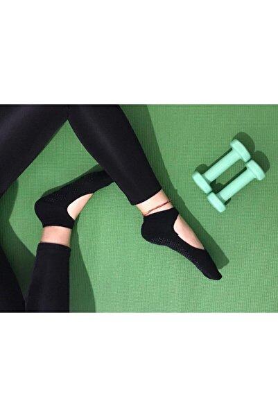 B&D SOCKS Kadın 3'lü Kaydırmaz Pilates Ve Yoga Çorabı