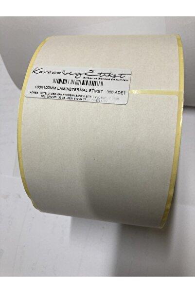 karacabey etiket 100x100mm Laminetermal Etiket