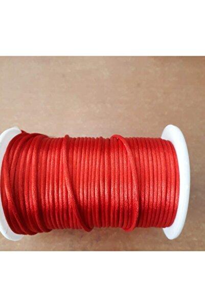 Bemsa Saten-floş Ip (sıçan Kuyruğu) Kalınlığı 2 Mm. Renk Kırmızı 10 Metre