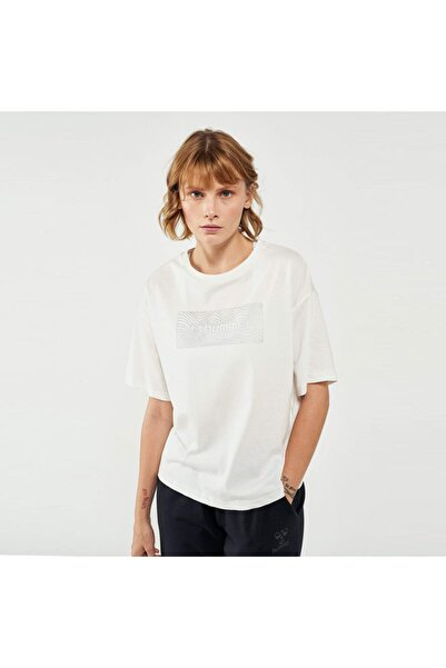 HUMMEL Kadın Beyaz Kısa Kollu Tişört