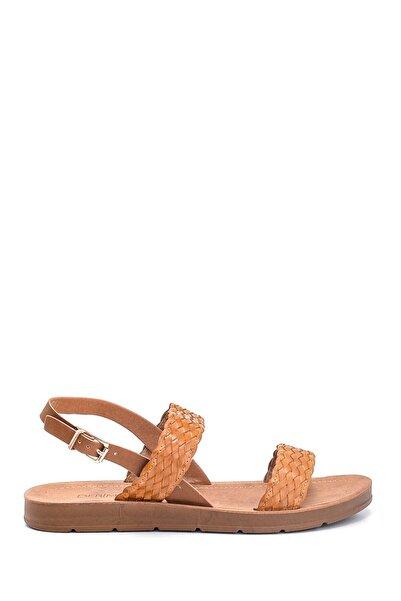 Derimod Kadın Örgü Detaylı Casual Sandalet
