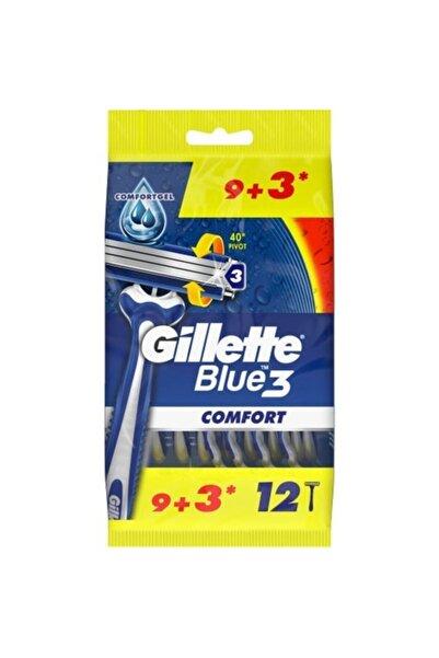 Gillette Blue 3 Comfort Kullan At Tıraş Bıçağı 9+3 12'li