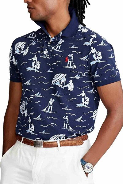 Polo Ralph Lauren Custom Slim Fit Marin Polo Yaka T-shirt