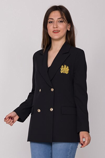 AYHAN 90493 Armalı 6 Düğmeli Blazer Ceket