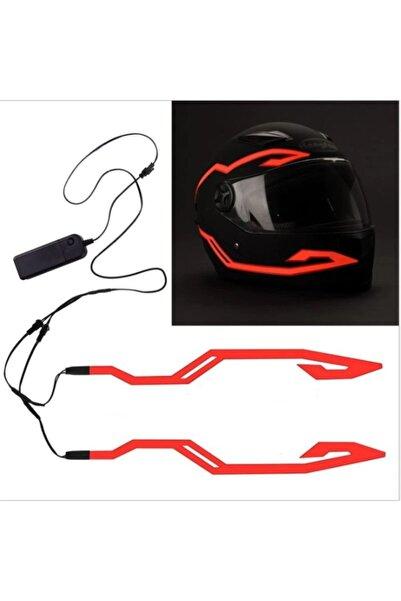 Tex Motosiklet Kask Aydınlatma Led Işık, Kask Led Işık Şeridi (kırmızı)
