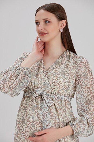 Entarim Hamile Elbise Şifon