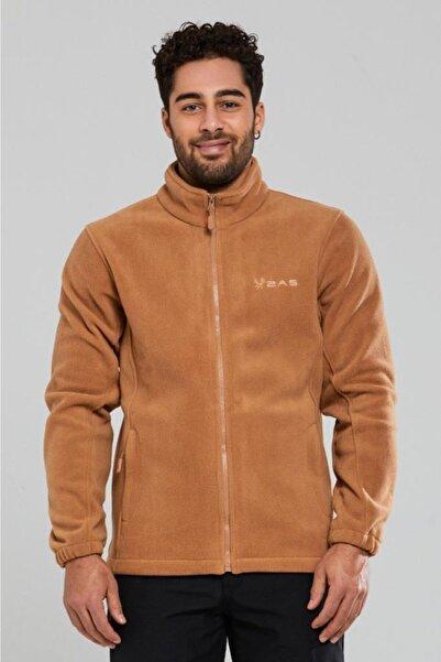 2AS Erkek Kahverengi Tam Fermuarlı Polar Sweatshirt 100013sw-kahverengi
