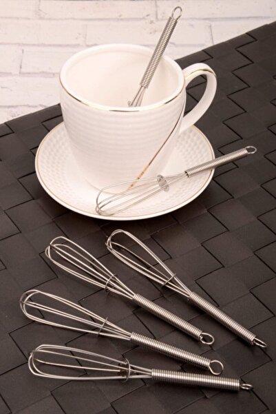 Kazanabil Mini Manuel Cappuccino Çay Kahve (KAŞIĞI) Karıştırıcı Çırpıcı (1 ADET)