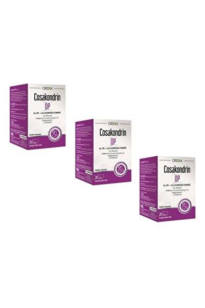 Orzax Cosakondrin Op 30 Tablet Takviye Edici Gıda 3'lü Paket