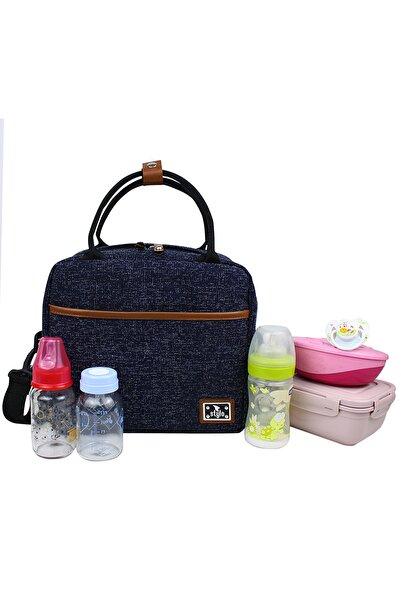 Stylo Unisex Lacivert Food Bag Mama Ve Çok Amaçlı Yemek Taşıma Termos Bebek Bakım Çantası