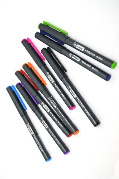Mikro Keçe Uç Kalem M-2028 8 Farklı Renk Fineliner 0.4 mm