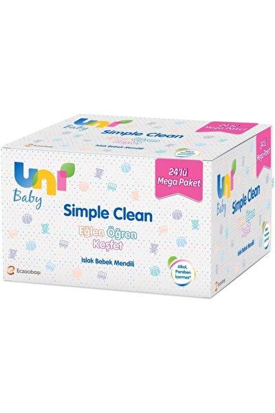 Uni Baby Simple Clean Islak Havlu Mendil 72'li x 24 Paket - 1728 Yaprak