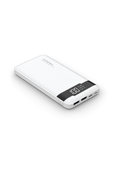Pineng Led Göstergeli Taşınabilir Şarj Cihazı 10.000 Mah Beyaz