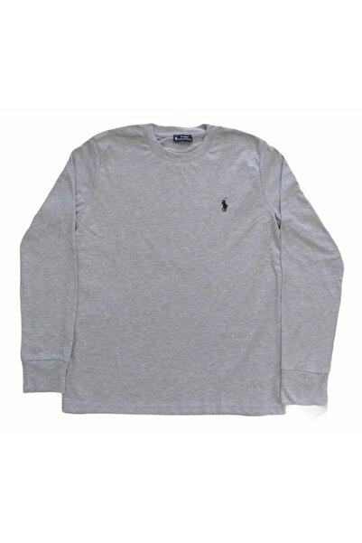 More Erkek Sıfır Yakalı Uzun Kollu Gri Mevsimlik Sweatshirt Esy-pl