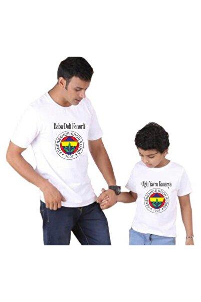 venüsdijital Baba Oğul Fenerli Beyaz Tshirt ( Tekli Üründür Kombin Yapılabilir Fiyatları Ayrı Ayrıdır)