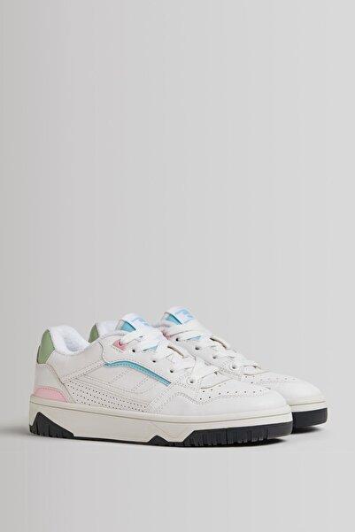Bershka Kontrast Pastel Detaylı Spor Ayakkabı