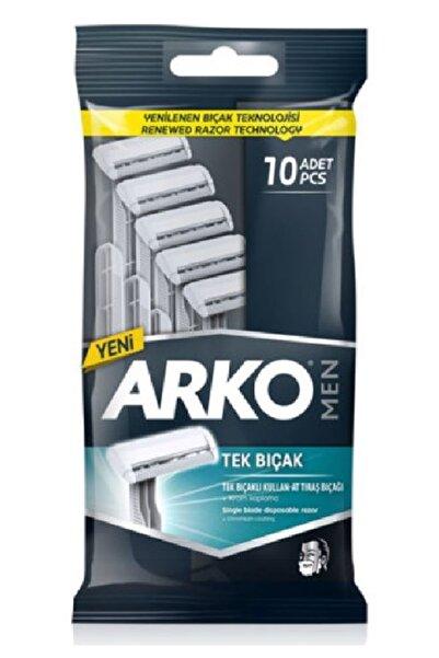 ARKO Erkek Tek Bıçaklı Tıraş Bıçağı Kullan At 10'lu