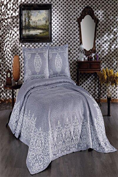 İpekçe Home Regan 3 Parça Pike Yatak Örtüsü Indigo
